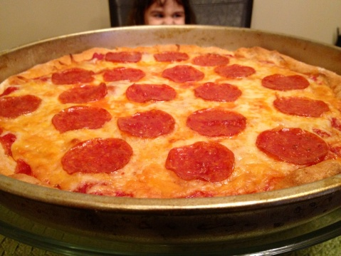 Traditional Pepporoni Pizza--Gluten Free!